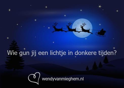 bewust leven kerstactie - wie gun jij een lichtje in donkere tijden?