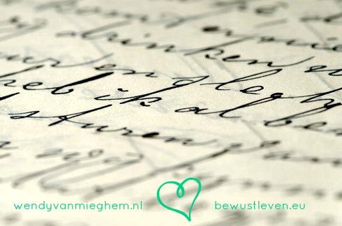 bewust leven - schrijven helpt